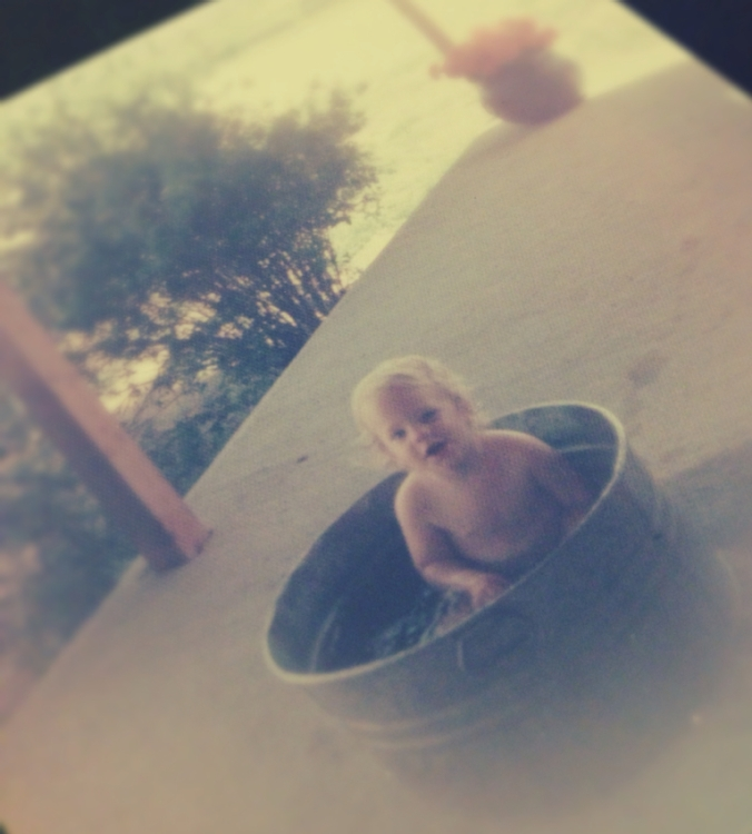 Jamie bucket bath1976